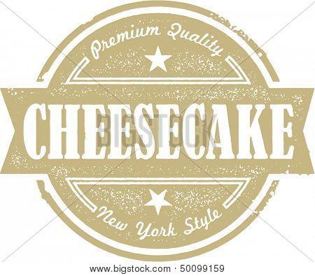 Vintage Cheesecake Dessert Stamp Label