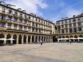 picture of basque country  - Square in Donostia  - JPG