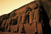 pic of ramses  - Colossi of Ramses II Great Temple of Ramses II Abu Simbel UNESCO World Heritage Site Egypt - JPG