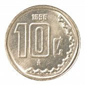 10 Mexican Peso Cents Coin