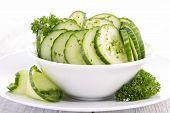 image of crudites  - cucumber salad - JPG