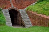 Underground passage way at Fort Clinch
