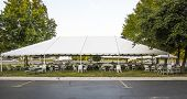 image of canopy roof  - White banquet wedding tent or party tent - JPG