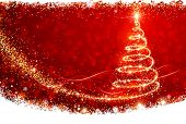 stock photo of star shape  - Magic Christmas Tree - JPG