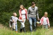 foto of 7-year-old  - Family Going On Picnic In Countryside - JPG