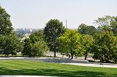 stock photo of arlington cemetery  - Washington DC seen from the Arlington National Cemetery - JPG