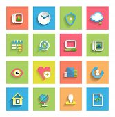 stock photo of universal sign  - Flat icon set  - JPG