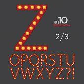 pic of broadway  - Set Of Broadway Vector Alphabet O - JPG