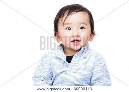 Asia baby boy smile