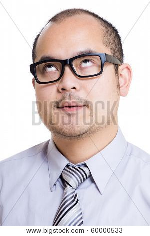 Asia businessman speechless