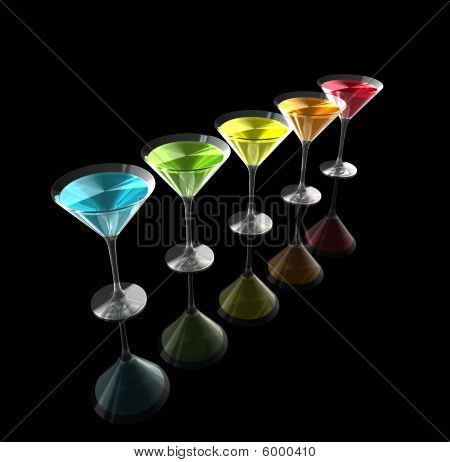 3D Cocktail Glasses