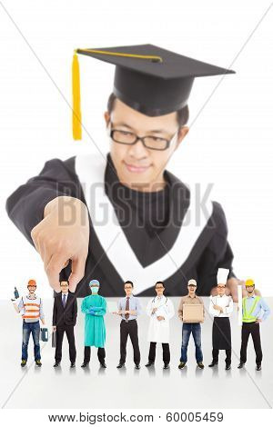 Graduation Student Choose His Career In The Future