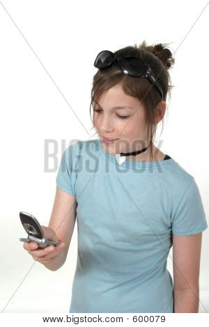 Teen Girl With Cellphone 1a