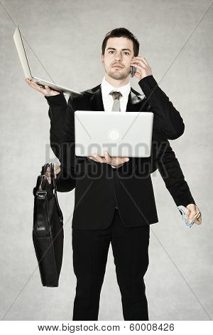 businessman octopus