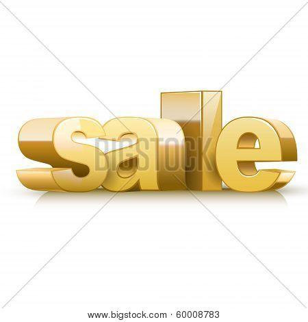 3D Golden Text Sale