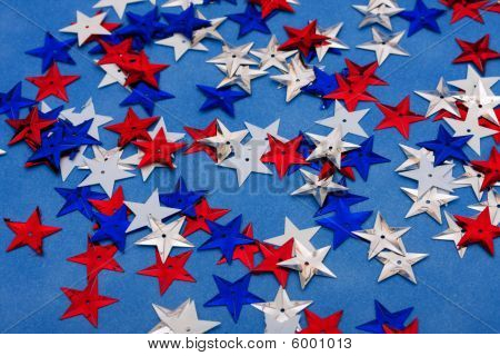 Multi Coloured Star Background