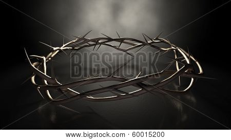 Crown Of Thorns On Dark