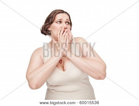 Scared Plus Size Woman