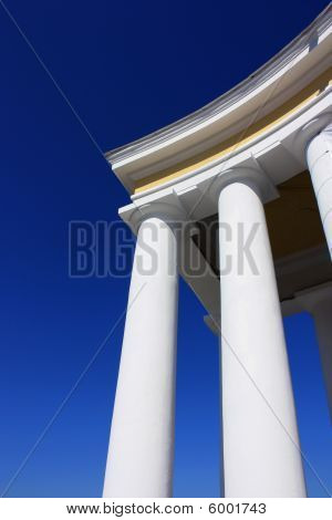 Details Of White Columns