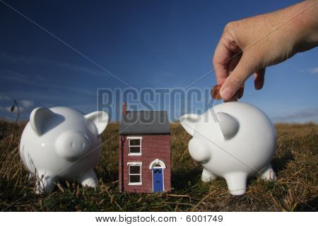 Saving for a home.