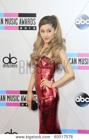 LOS ANGELES - NOV 24: Ariana Grande at the 2013 American Music Awards at Nokia Theater L.A. Live on November 24, 2013 in Los Angeles, California