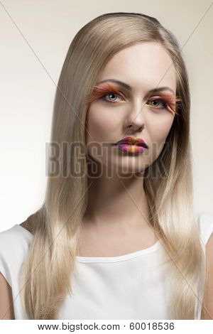 Girl With Creative Make-up