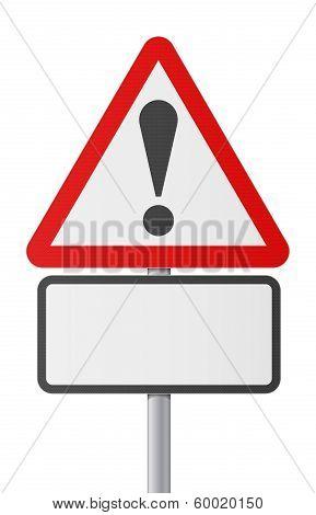 English road sing - Blank danger