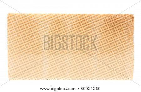 Close up of waffer brick.