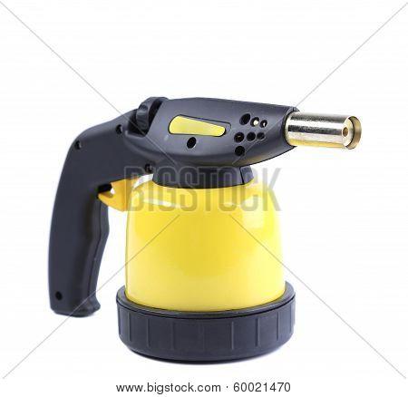 Manual gas camping burner.