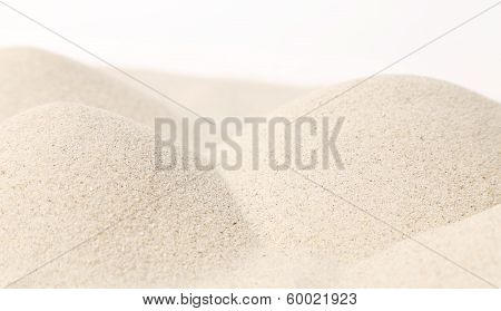 Close up of white sand hills.