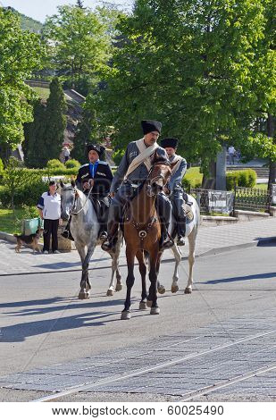 Group Of Horsemen.