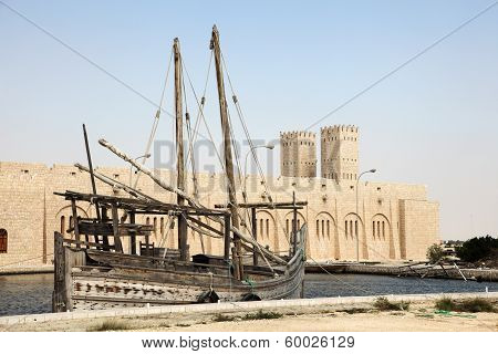 Traditional Dhow In Qatar