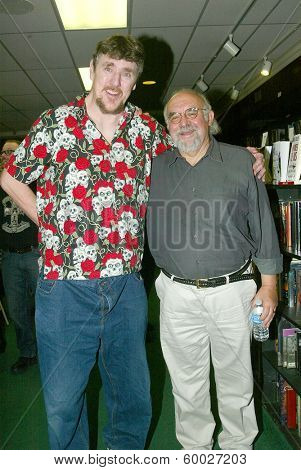 BURBANK, CA - FEBRUARY 16:  Pat Jankiewicz and Stuart Gordon attends the