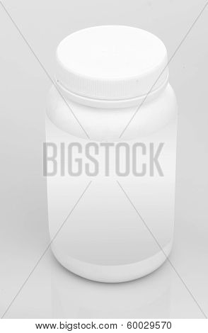 White Plastic Tub Bucket Container isolated on white