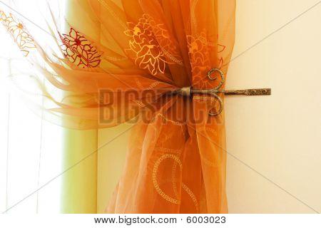 Translucent Orange Curtains