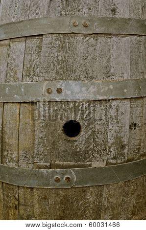 Empty Wood Beer Barrel