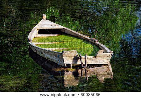 Abandoned boat at Ohrid Lake - Macedonia