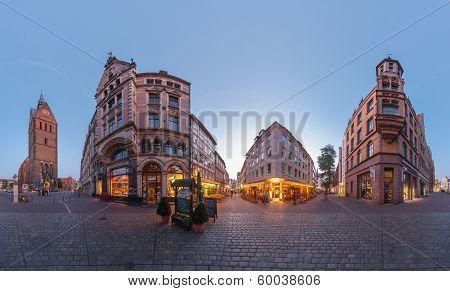 Hannover. Marktplatz. 360 Degree Panorama.