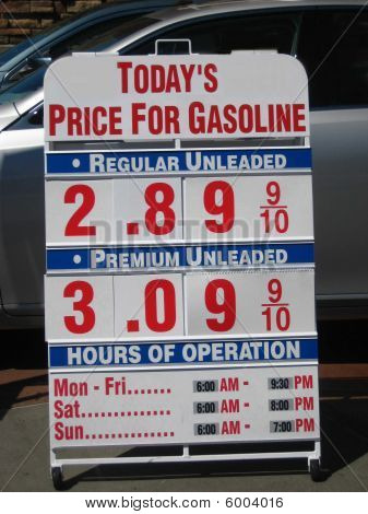 Today's price for gasoline