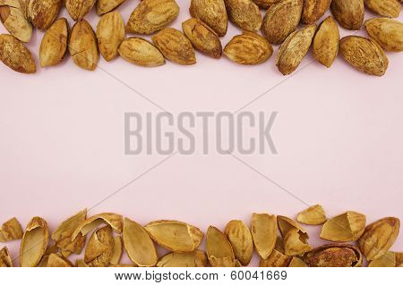 Almond With Hull Background