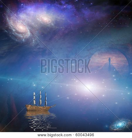 Fantasy  Composition Elements of this image furnished by NASA