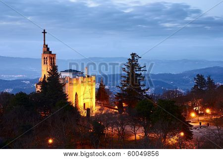 Church Of Penha In Guimaraes, Portugal