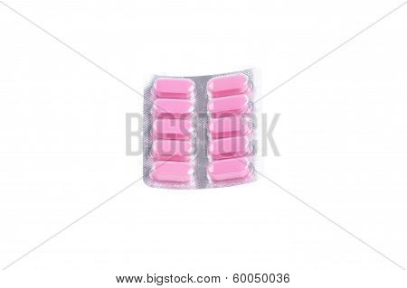 pink pills in blister pack