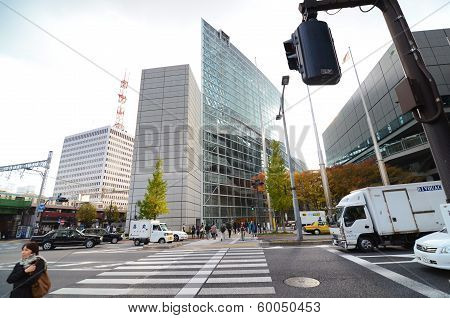 Tokyo - Nov 20: Exterior Of Tokyo International Forum On November 26 2013 In Tokyo Japan.