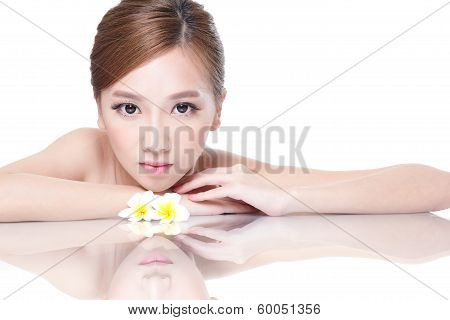 Spa Beauty Woman With Flower