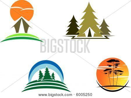 Tourism symbols