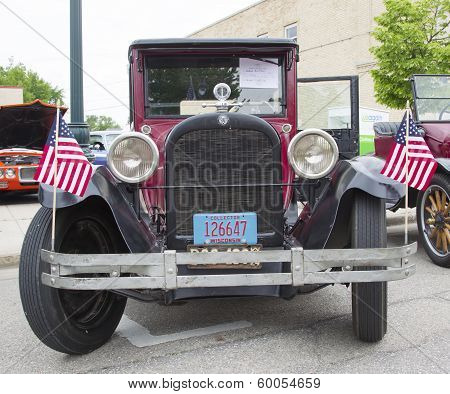 1924 Red Dodge Brothers Touring Car