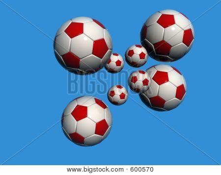 Blue Bckg Football