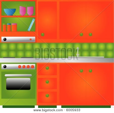 Retro designed Kitchen