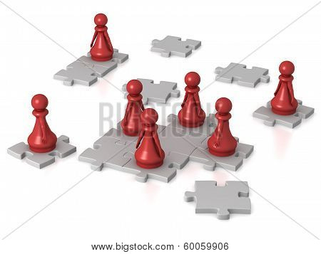 Pawns Working Together